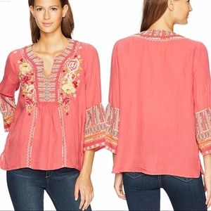 Johnny Was Tilly Flare Boho Blouse